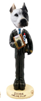 Pit Bull White Airline Pilot Doogie Collectable Figurine