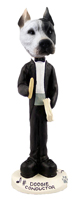 Pit Bull White Conductor Doogie Collectable Figurine