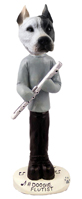 Pit Bull White Flutist Doogie Collectable Figurine