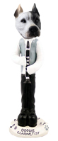 Pit Bull White Clarinetist Doogie Collectable Figurine