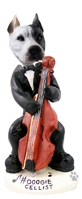Pit Bull White Cellist Doogie Collectable Figurine