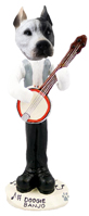 Pit Bull White Banjo Doogie Collectable Figurine