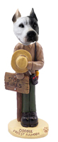 Pit Bull White Forest Ranger Doogie Collectable Figurine