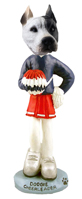 Pit Bull White Cheerleader Doogie Collectable Figurine
