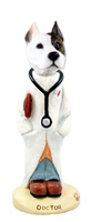 Pit Bull Terrier Doctor Doogie Collectable Figurine
