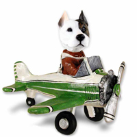 Pit Bull Terrier Airplane Doogie Collectable Figurine