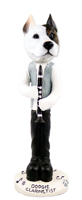 Pit Bull Terrier Clarinetist Doogie Collectable Figurine