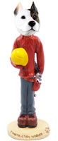 Pit Bull Terrier Construction Worker Doogie Collectable Figurine