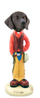 German Short Haired Pointer Cowboy Doogie Collectable Figurine