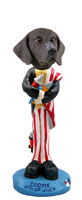 German Short Haired Pointer 4th of July Doogie Collectable Figurine