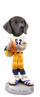 German Short Haired Pointer Football Player Doogie Collectable Figurine