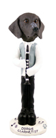 German Short Haired Pointer Clarinetist Doogie Collectable Figurine