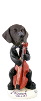 German Short Haired Pointer Cellist Doogie Collectable Figurine