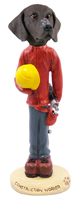 German Short Haired Pointer Construction Worker Doogie Collectable Figurine