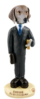 Weimaraner Businessman Doogie Collectable Figurine