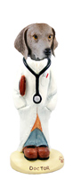 Weimaraner Doctor Doogie Collectable Figurine