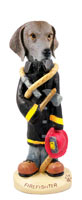 Weimaraner Fireman Doogie Collectable Figurine