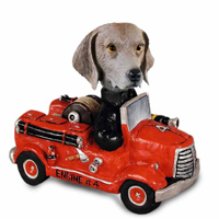 Weimaraner Fire Engine Doogie Collectable Figurine