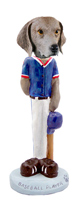 Weimaraner Baseball Doogie Collectable Figurine