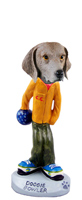 Weimaraner Bowler Doogie Collectable Figurine