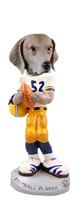 Weimaraner Football Player Doogie Collectable Figurine