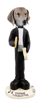 Weimaraner Conductor Doogie Collectable Figurine