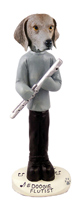 Weimaraner Flutist Doogie Collectable Figurine