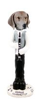 Weimaraner Clarinetist Doogie Collectable Figurine