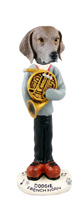 Weimaraner French Horn Doogie Collectable Figurine