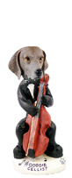 Weimaraner Cellist Doogie Collectable Figurine