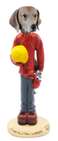 Weimaraner Construction Worker Doogie Collectable Figurine