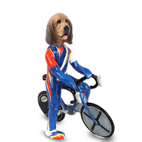 Bloodhound Bicycle Doogie Collectable Figurine