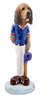 Bloodhound Baseball Doogie Collectable Figurine