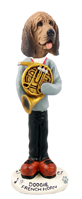 Bloodhound French Horn Doogie Collectable Figurine