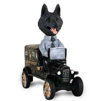 Schipperke Paddy Wagon Doogie Collectable Figurine