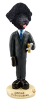 Portuguese Water Dog Businessman Doogie Collectable Figurine
