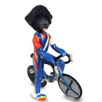 Portuguese Water Dog Bicycle Doogie Collectable Figurine