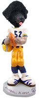 Portuguese Water Dog Football Player Doogie Collectable Figurine