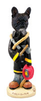 French Bulldog Fireman Doogie Collectable Figurine