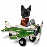 French Bulldog Airplane Doogie Collectable Figurine