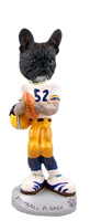 French Bulldog Football Player Doogie Collectable Figurine