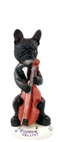 French Bulldog Cellist Doogie Collectable Figurine