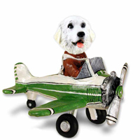 Great Pyrenees Airplane Doogie Collectable Figurine