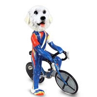 Great Pyrenees Bicycle Doogie Collectable Figurine