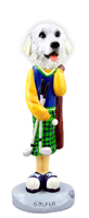 Great Pyrenees Golf Doogie Collectable Figurine