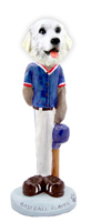 Great Pyrenees Baseball Doogie Collectable Figurine