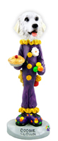 Great Pyrenees Clown Doogie Collectable Figurine