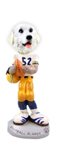 Great Pyrenees Football Player Doogie Collectable Figurine