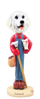 Great Pyrenees Farmer Doogie Collectable Figurine
