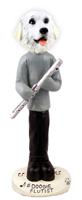 Great Pyrenees Flutist Doogie Collectable Figurine